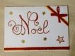 Grande carte de vœux noël rouge