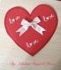 Carte de saint valentin cœur rouge