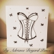 Carte corset / bustier noir et blanc
