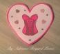 Carte cœur corset / bustier rose