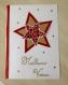 Grande carte de voeux Étoile rouge