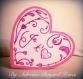 Carte amour st valentin coeur rose et blanc