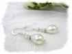 Parure mariage blanc collier bracelet boucles d'oreilles pa61
