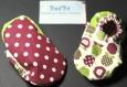 Chaussons bébé mixte en tissus modele pom