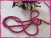 2 m cordon rose fuschia 5 mm lacet cordelière cordonnet loisirs créatif