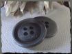 Bouton métal gris mat * 20 mm 2 cm * 4 trous * button sewing