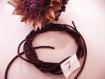2 m cordon ciré épais 2 mm * marron chocolat n° 7 * loisirs créatif lacet coton