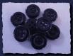 10 boutons bleu marine foncé * 13 mm * 4 trous * black button 1,3 cm