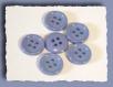 8 boutons bleu tendre * 15 mm 4 trous 1,5 cm blue button mercerie