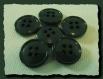 Lot 8 boutons vert sapin * 14 mm 4 trous 1,4 cm green button mercerie