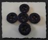 8 boutons bleu marine épais * 22 mm 2,2 cm * 4 trous * blue button sewing