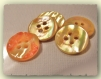 5 boutons jaune en nacre * 15 mm 4 trous 1,5 cm button shell mercerie