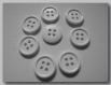 Lot 8 boutons blanc * 14 mm 4 trous 1,4 cm button white mercerie