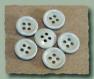 Lot 8 boutons gris bleu clair * 15 mm 4 trous 1,5 cm button blue grey mercerie