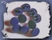 Lot 10 boutons bleu marine neufs * 10 mm * pied * dark blue button 1 cm