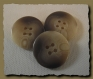 5 boutons beige marron marbré 25 mm 2,5 cm * 4 trous button sewing manteau vesteneuf lot couture
