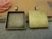 X5 , bronze antique , carré , autocollants , 25 * 25mm , base, d135-1