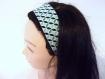 Bandeau cheveux femme graphique vert et noir
