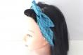 Bandeau rigide femme graphique bleu pétrole
