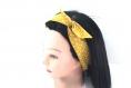 Bandeau cheveux rigide court moutarde