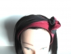 Bandeau rigide long rouge et noir