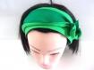 Bandeau cheveux rigide femme duo de vert