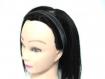 Headband ou bandeau fin femme argenté et noir
