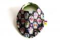 Bavoir bébé tête de mort multicolores