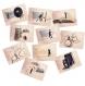 Jeu de 10 cartes postales série n°2 - format 10,5x15 cm, décoration cuisine, carte postale, set de carte postale,