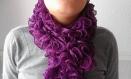 """Echarpe à volants """"flamenco"""" coloris violet"""