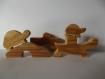 Puzzle jouet en bois la tortue