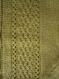 Gilet printanier pour fille, manche courte, vert avec un joli point torsadé, tricoté main 4 ans