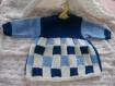 Robe bleue et blanche 3 mois