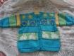 Gilet/cardigan bleu tricoté main taille 18 mois