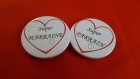 Lot de deux badges super parrain marraine