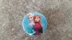Badge rond à épingle la reine des neiges