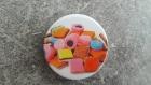 Badge épingle gourmand - bonbons et réglisse