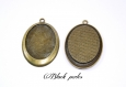 Support cabochon pendentif ovale 40x30mm x1- 371