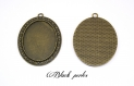 Support cabochon pendentif ovale 40x30mm x1- 268