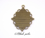 Support cabochon pendentif ovale 40x30mm x1- 154