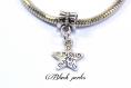 Perle style pandora pendentif charm étoile écrit