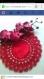 Lot de deux napperons rouges crochet fond tissus zweigart