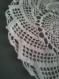 Lot de deux napperons crochet blanc motif spirale