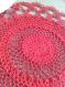 Napperon crochet rouge frivol