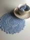 Offre 2 + 1 offert napperons ronds bleu dentelle crochet