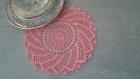 Napperon dentelle romantique spirale rose (sur commande)
