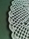 Lot de 2 napperons crochet blanc motif ananas (sur commande)