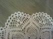 Lot de deux napperons blanc crochet(sur commande)