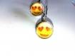 Boucles d'oreilles smiley love &smile