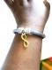 Diy bracelet infini effet argenté